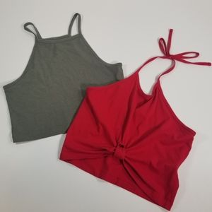 💋 2 Crop Tops Size Small